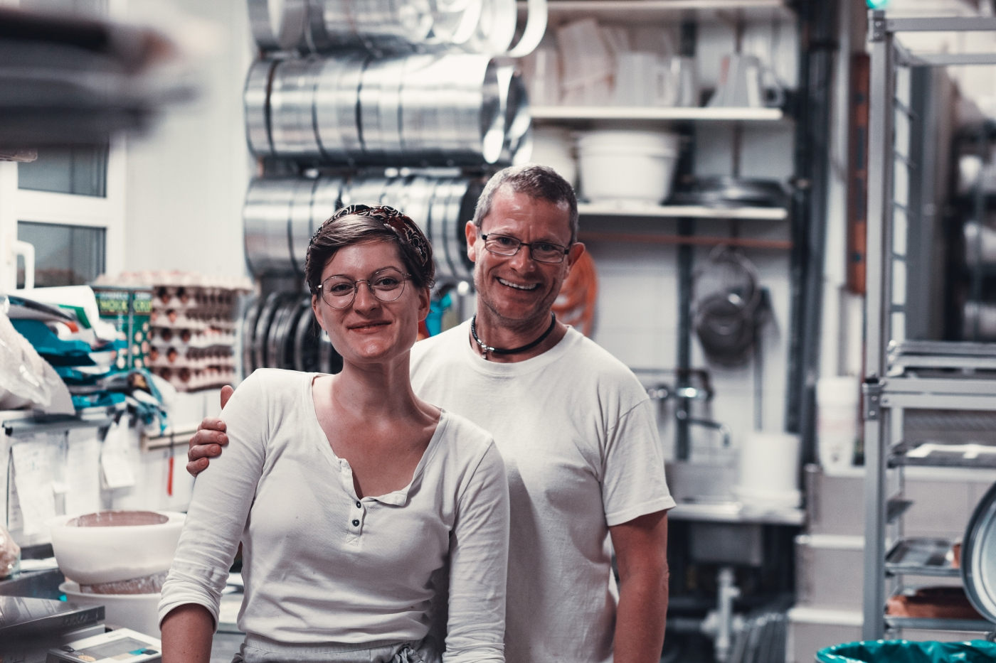 Work Portrait made in Munich featuring the Portrait, Actor, Headshot and Business photographer Daniel Schubert and employees of a local bakery.